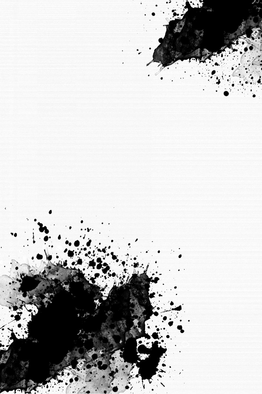 Black And White Graffiti Abstract Splash Ink Trails Fashion