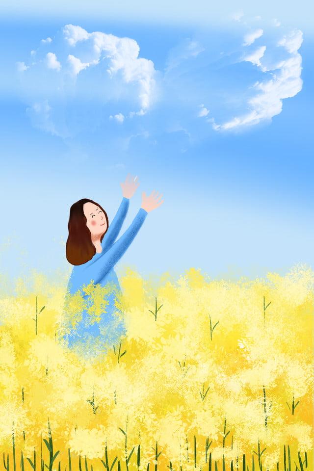 Cielo Blu Nuvole Bianche Fiore Mare Fiori Telefono Bianche