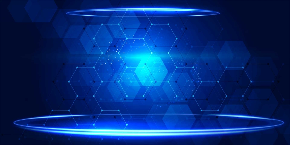 Blue Technology Background Banner, Space, Technology, Technology Background  Image For Free Download
