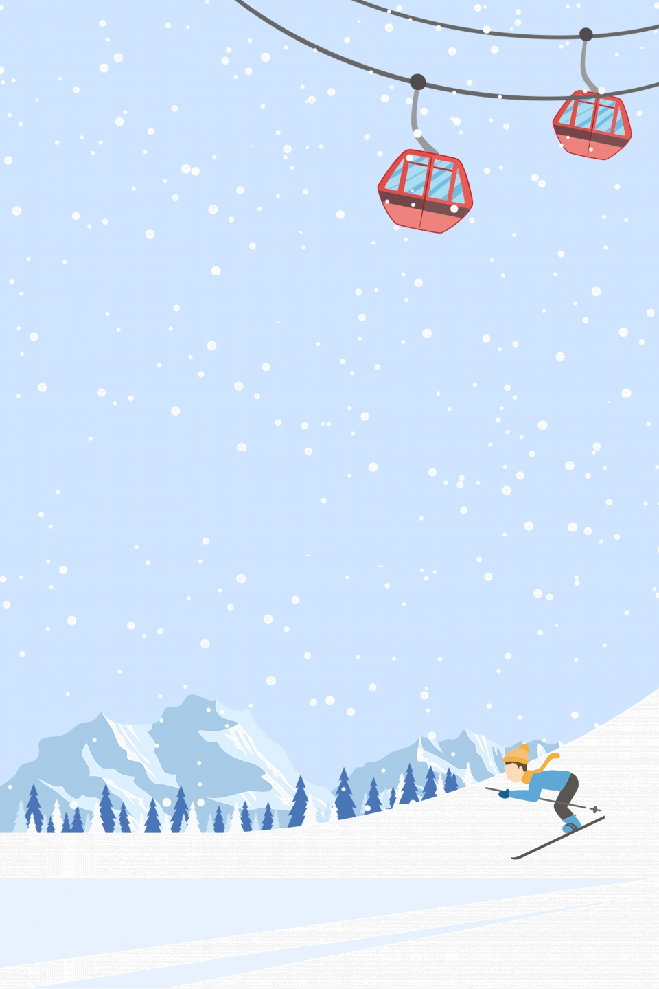 Cartoon Skiing Culture Ski Advertising Background Material Ski Poster Snowboarding Skiing Background Image For Free Download