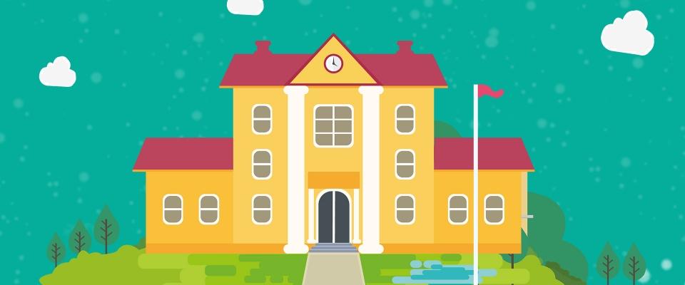 640 Gambar Rumah Sekolah Kartun HD Terbaru