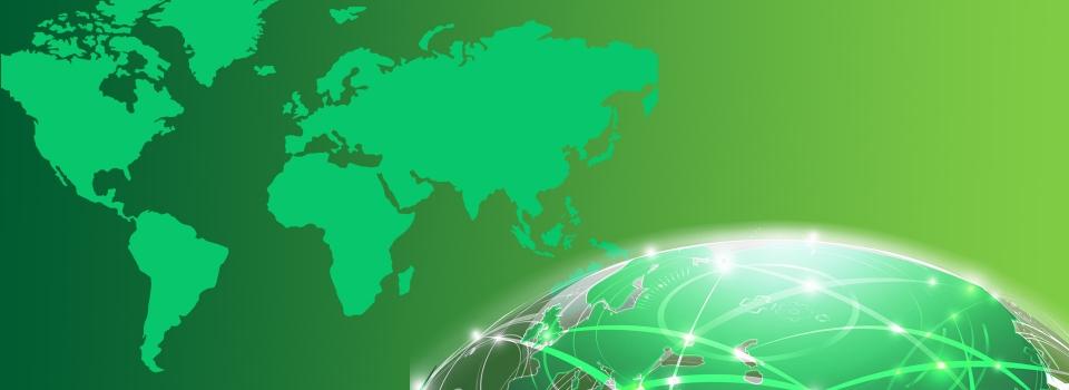 Rete Tecnologia Irreale Freccia Freccia Mappa Verde Immagine Di