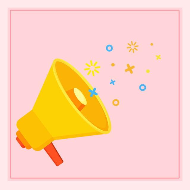 Hand Drawn Horn Sound Icon Background, Hand Drawn, Horn