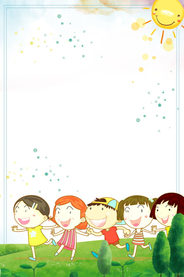 File Di Crescita Di Kindergarten Per Bambini Felici Bambini Scuola
