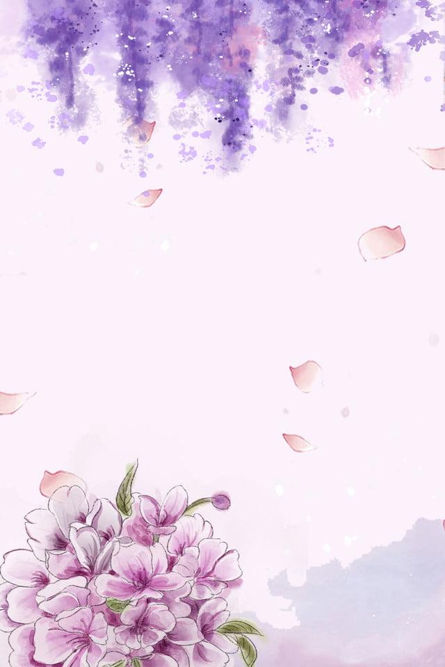 Light Purple Flowers H5 Background Light Purple Purple Flower