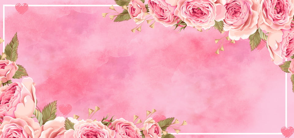 Pink Wedding Gradient Dreamy Pink Banner Background