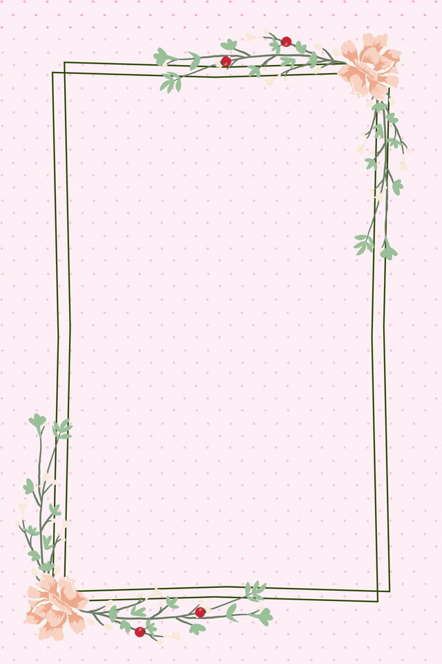Small Fresh Minimalist Floral Poster Background Material Fresh