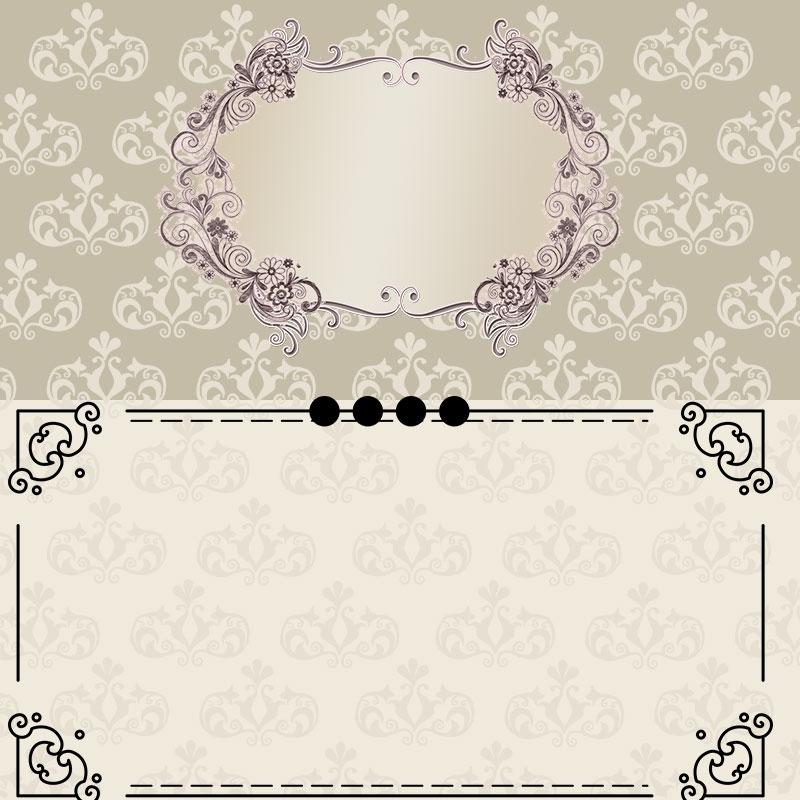 Vector Wedding Invitation Design Background Design