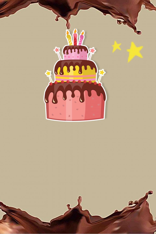 Modele De Fond De Presentoir D Affiche De Chocolat De Gateau D Anniversaire Gateau D Anniversaire Chocolat Affiche Image De Fond Pour Le Telechargement Gratuit