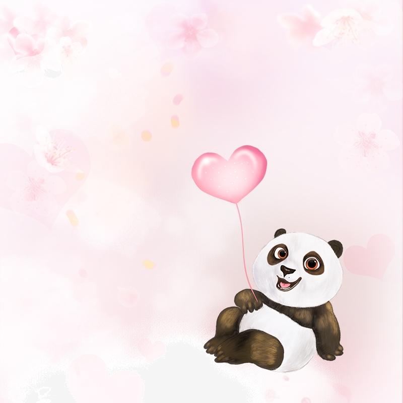 Infantil Dibujos Animados Panda Amor Infantil Portada Animados