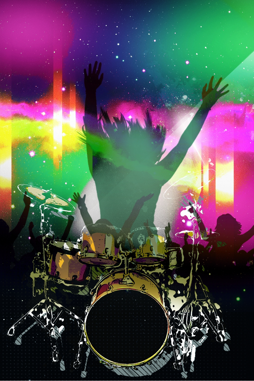 Cool Bar Club Background Material Bar Music Disco Background
