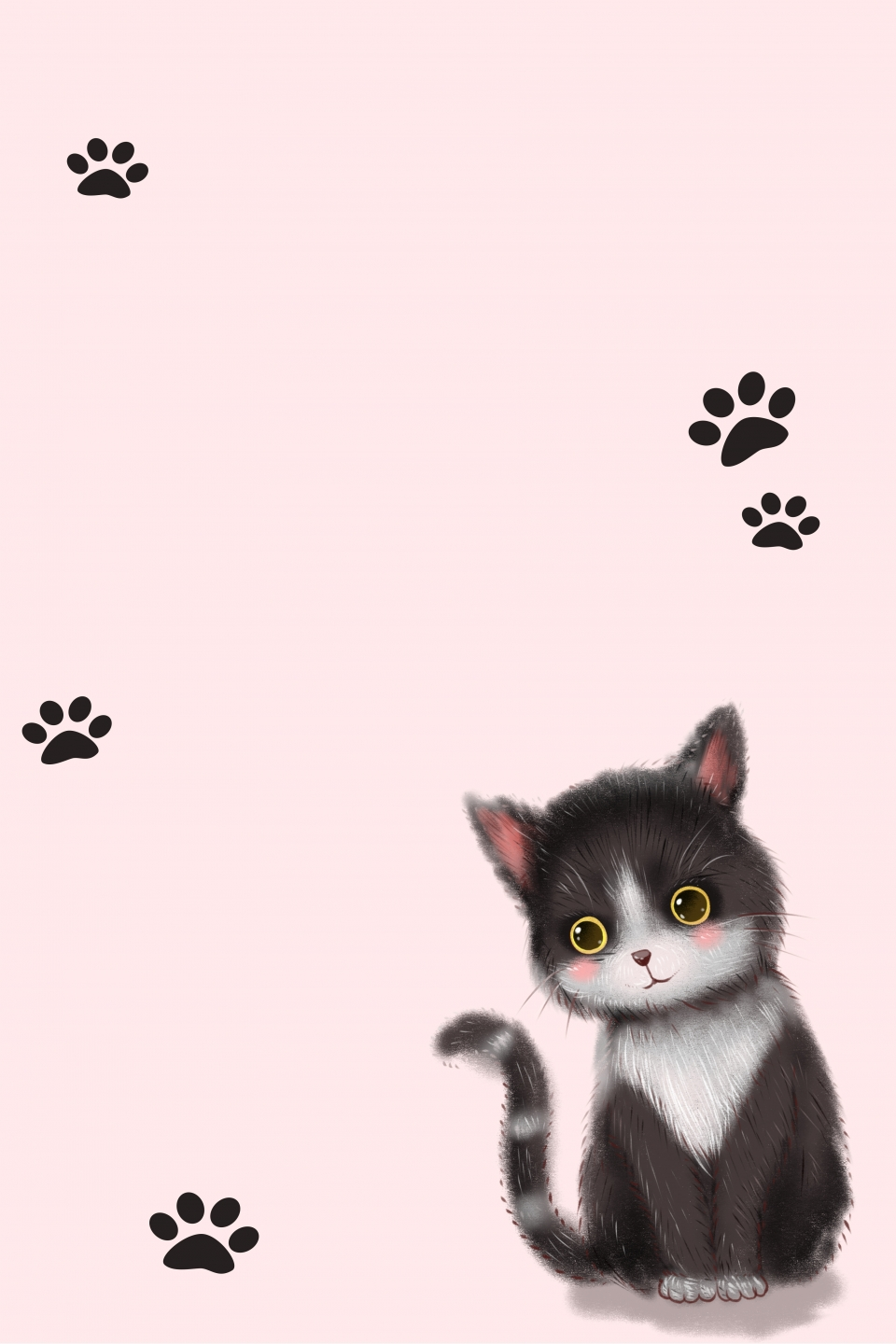 Cute Cat Background Material Art Cute Cat Background Image For Free Download