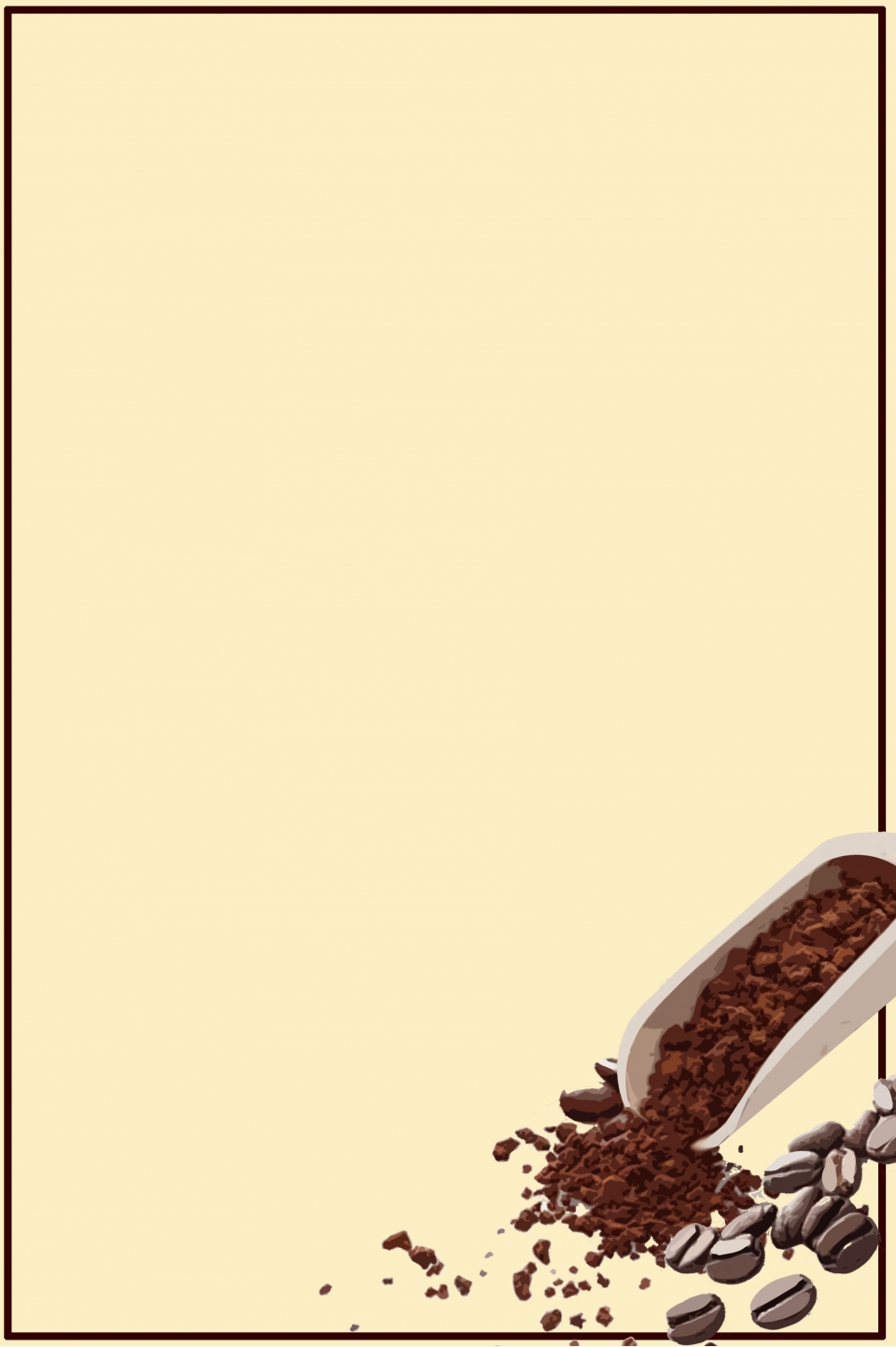 European Coffee Bean Coffee Shop Advertising Exhibition Board Line Drawing Background Material Coffee Background Coffee Bean Background Line Drawing Background Background Image For Free Download