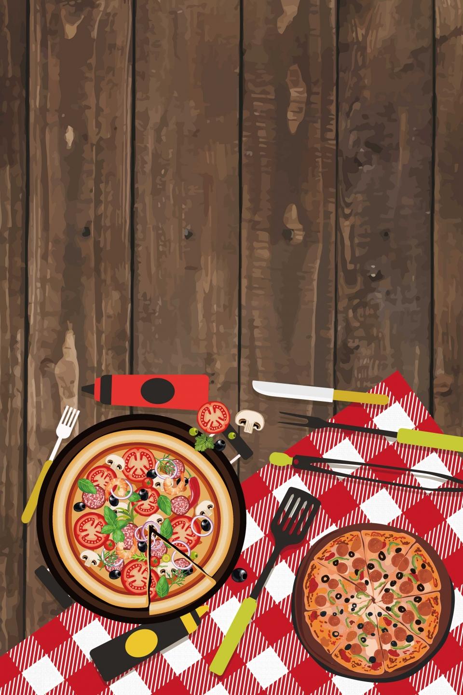 Materi Latar Belakang Promosi Makanan Pizza Es Krim Poster Gambar Latar Belakang Untuk Unduhan Gratis