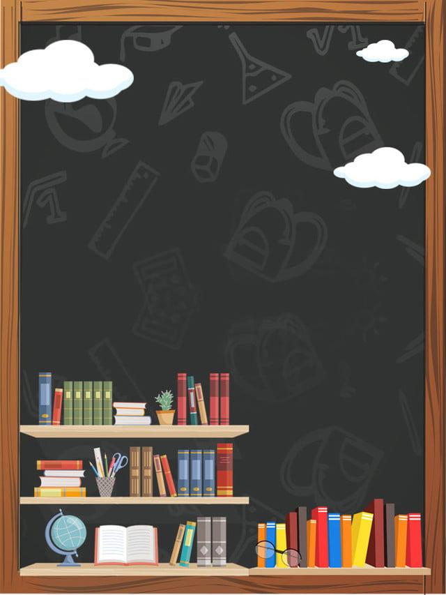 Green Minimalistic Blackboard Book World Reading Day Poster