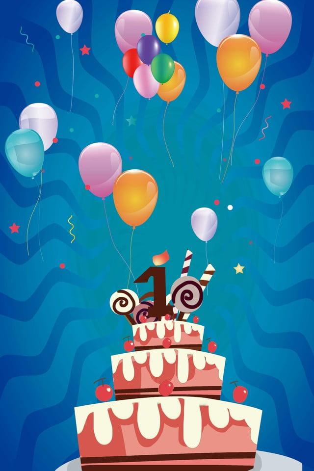 Super Light Blue Warm Birthday Cake Background Material Birthday Cake Funny Birthday Cards Online Elaedamsfinfo