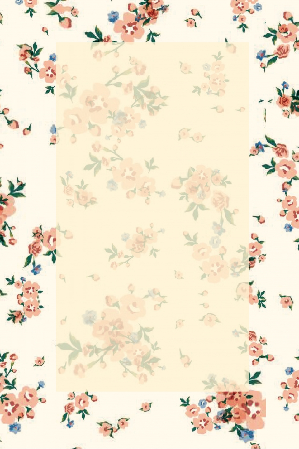 Literary Fresh Floral Background Art Simple Floral Background