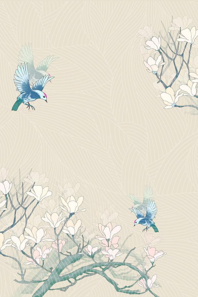 Love Bird Ribbon Elegant Wedding Invitation Background