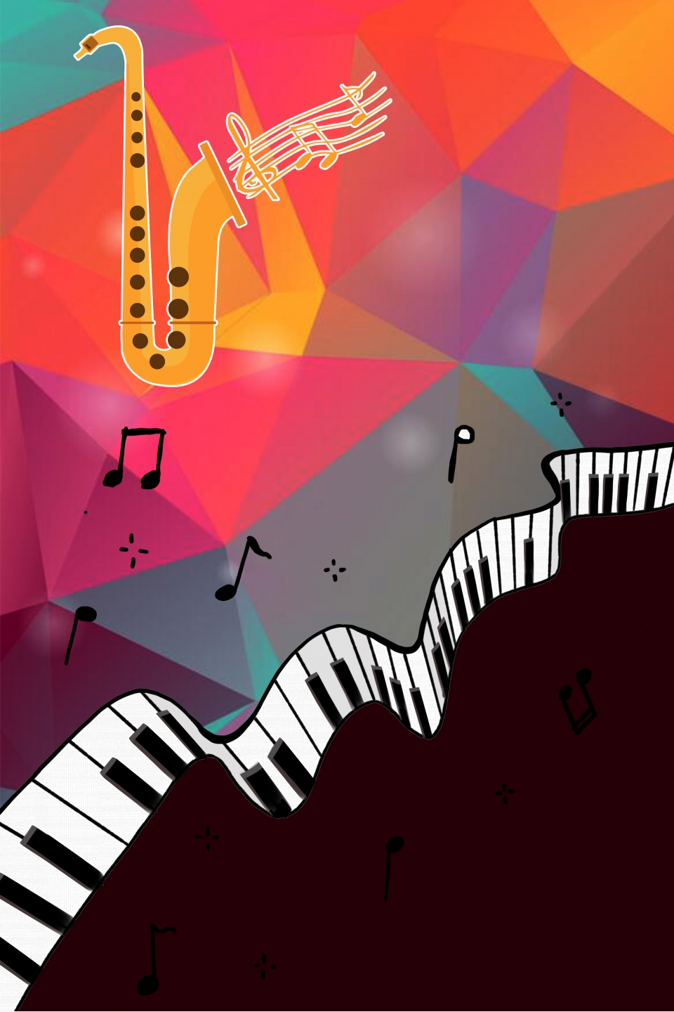 Music Theme Advertising Background Material, Music, Concert