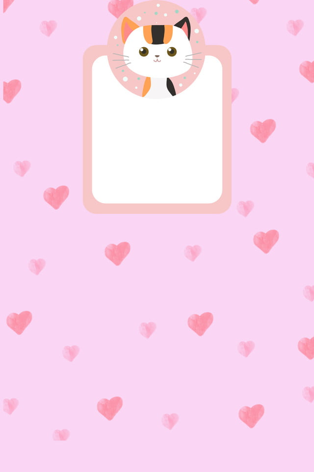 Pink Cartoon Cat And Dog Pink Animal Cat Background Image For Free Download