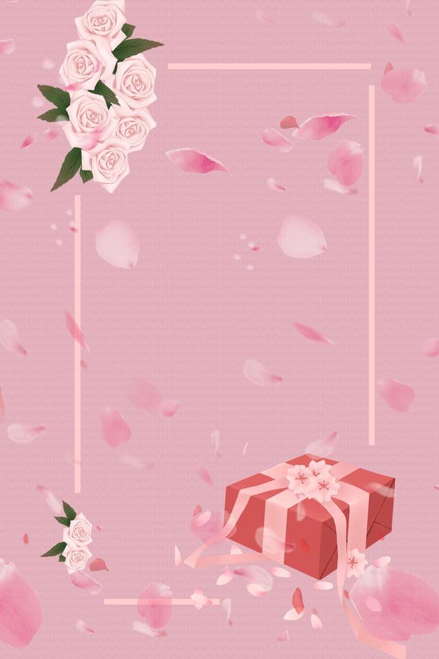 Pink Romantic Wedding Invitation H5 Poster Background Psd