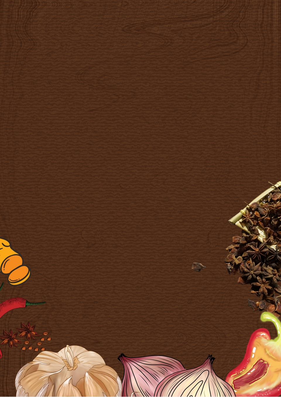 Seasoning Ingredients Spice H5 Background Spices Ingredients Condiments Background Image For Free Download