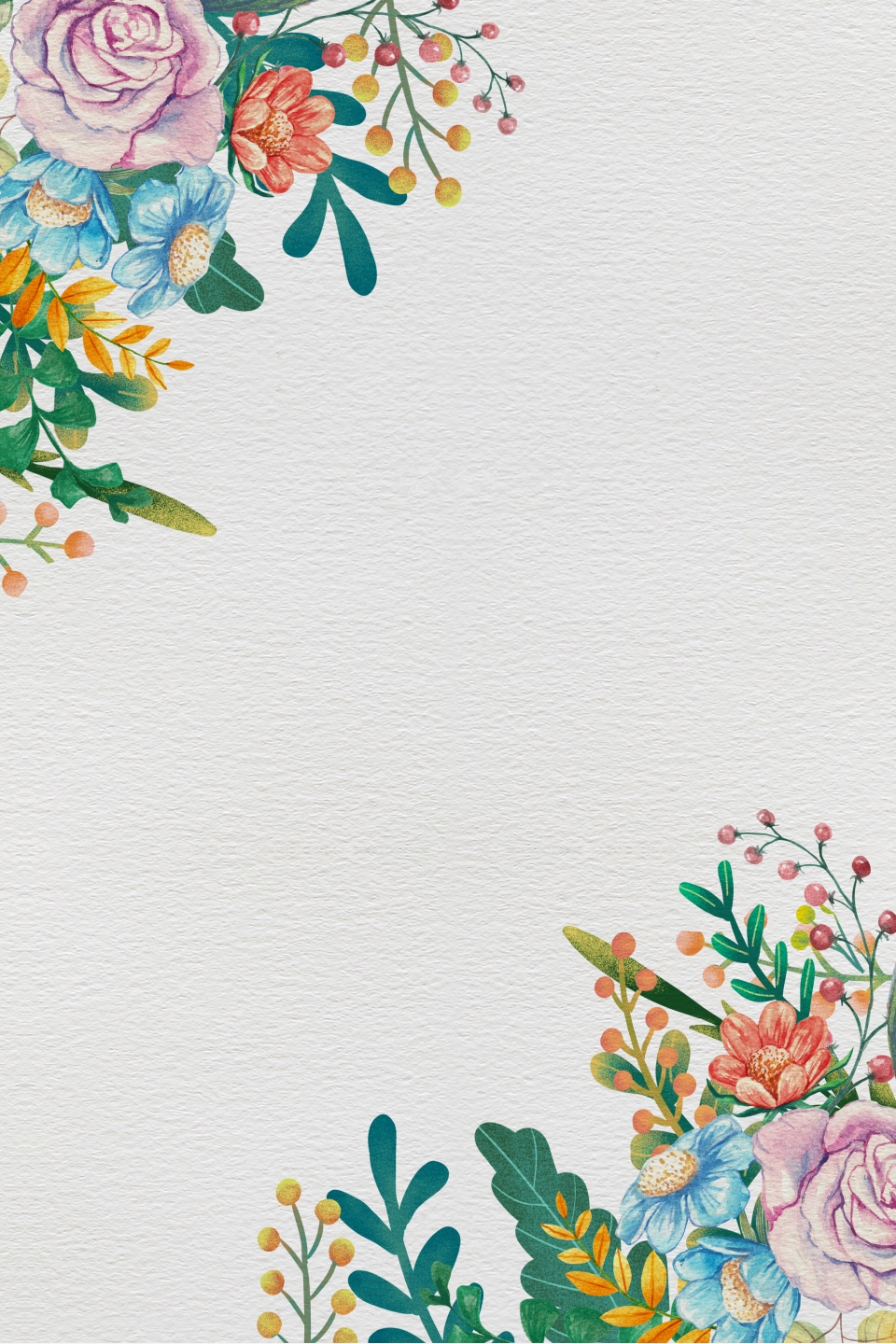 Simple And Elegant Painted Floral Border Vector Background Simple And Elegant Classical Painted Background Image For Free Download