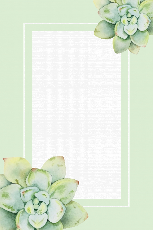 Succulents Diy Poster Background Template, Succulent, Diy ...
