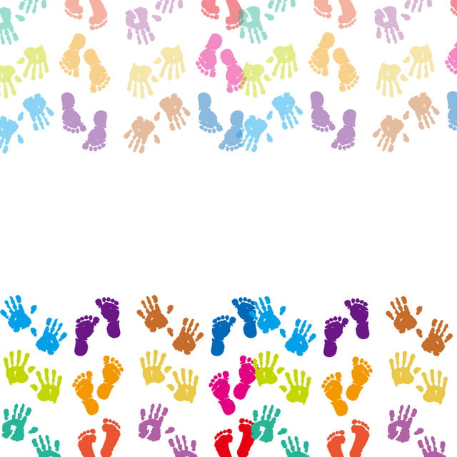 A Young And Energetic Handprint Background Image Handprint