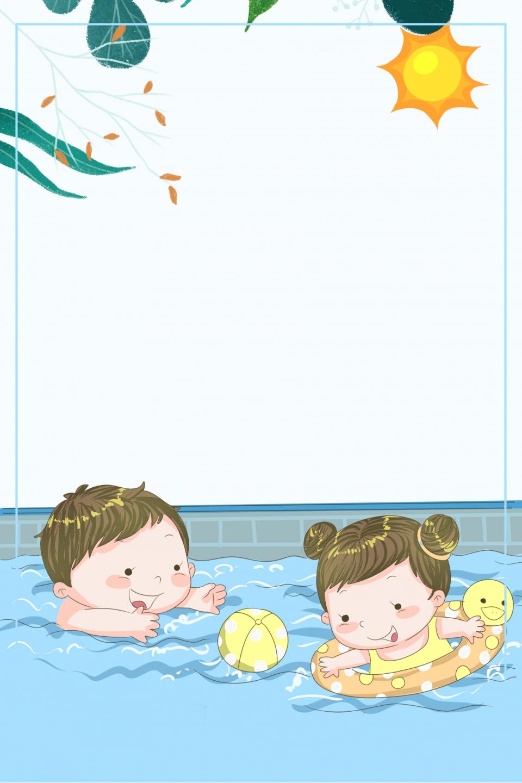 طفل السباحة ملصق خلفية أطفال يسبحون الغوص مدرب شخصي صورة الخلفية للتحميل مجانا