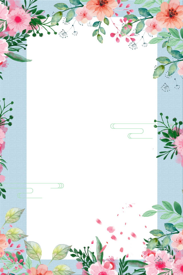 Beautiful Flowers Poster Background Spring Poster Flowers