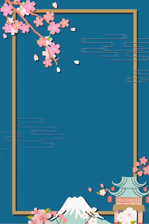Beautiful Japan Poster Background Japan Poster Background Sakura Imagem De Plano De Fundo Para Download Gratuito
