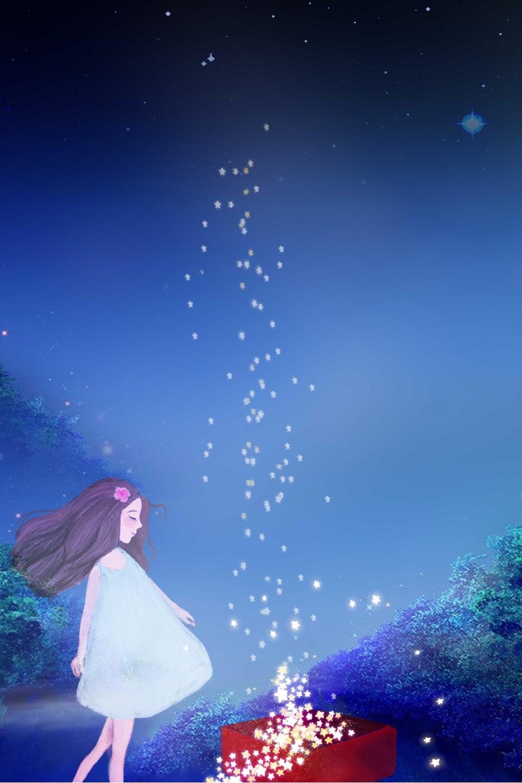 Beau Romantique Mystérieux Rêveur, étoilé, Romantique, Nuit Image de fond  pour le téléchargement gratuit