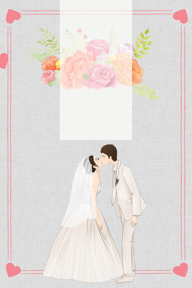 Beautiful Small Fresh Floral Wedding Poster Background Love