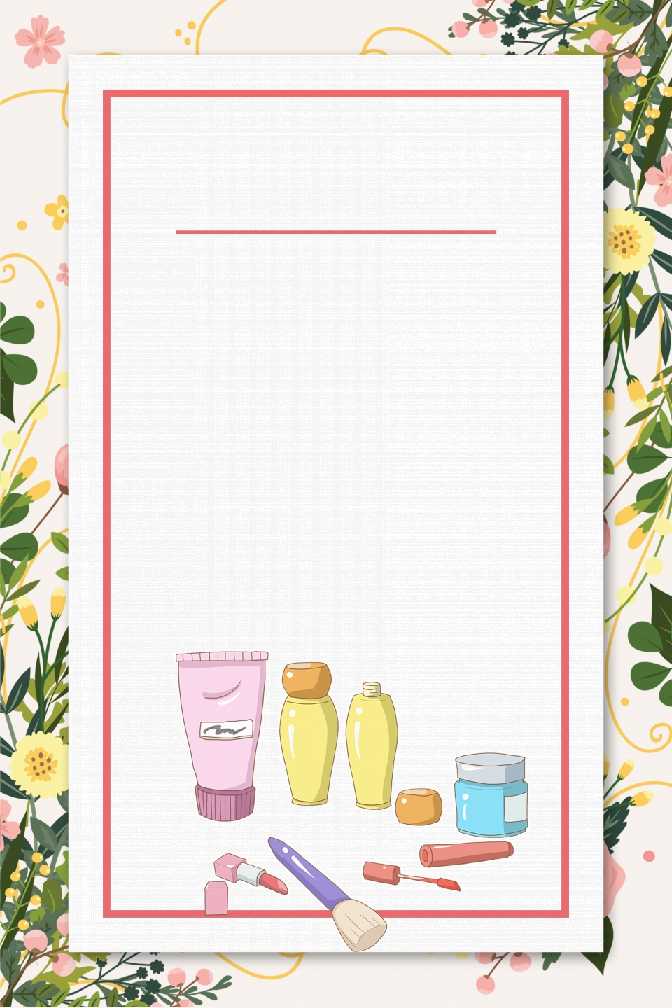 Beauty Skin Care Cosmetics Poster Background Material Beauty Skin Care Cosmetics Facial Cleanser Background Image For Free Download