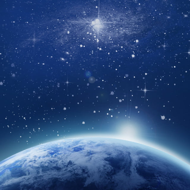 Blue Earth Outer Space Background Starry Sky Night Earth Background Image For Free Download