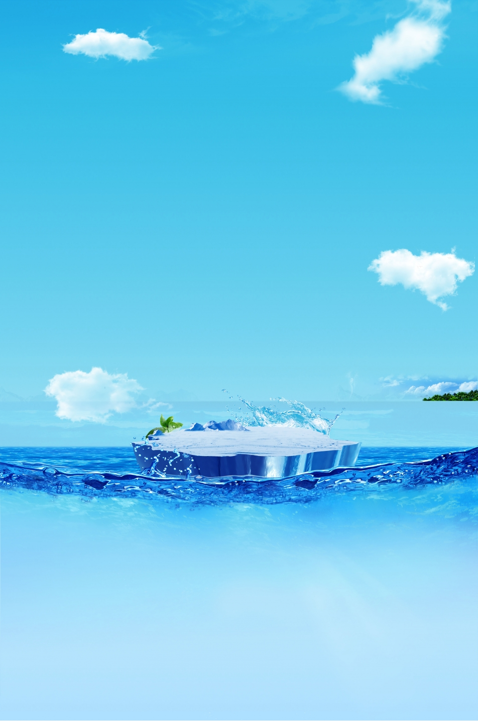 Langit Biru Es Laut Gunung Es Es Sejuk Bahan Latar Musim Panas, Langit Biru,  Permukaan Laut, Es Batu Gambar Latar Belakang Untuk Unduhan Gratis