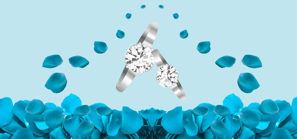 Blue Wedding Ring Banner Blue Wedding Ring Banner Background Image For Free Download