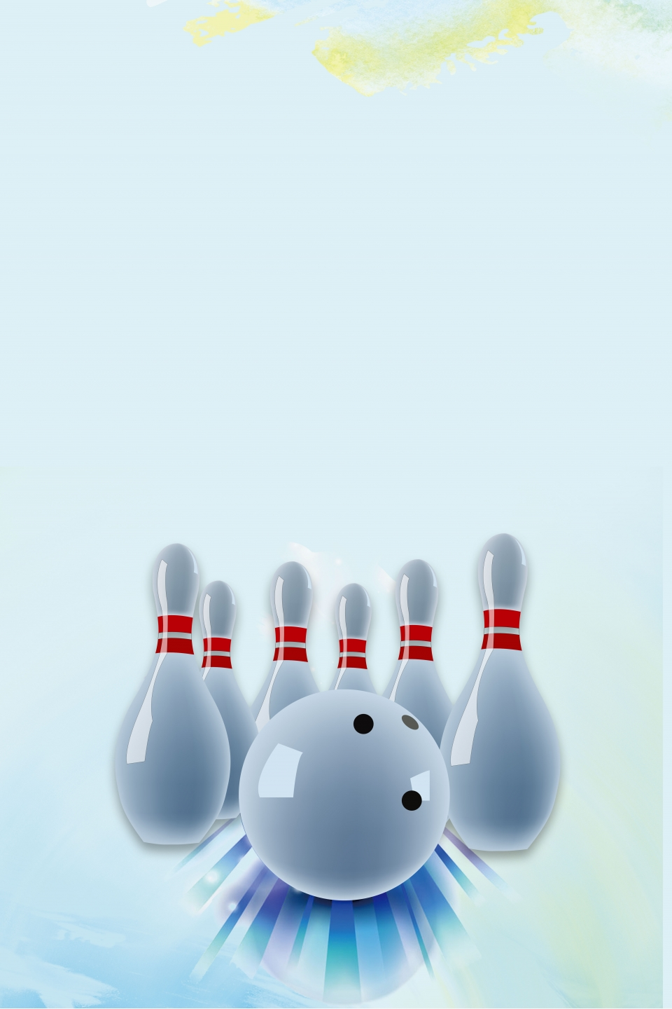Bowling Alley Poster Background Material Bowling Alley