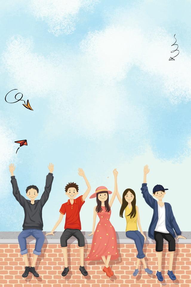 cartoon character friendship youth graduation season