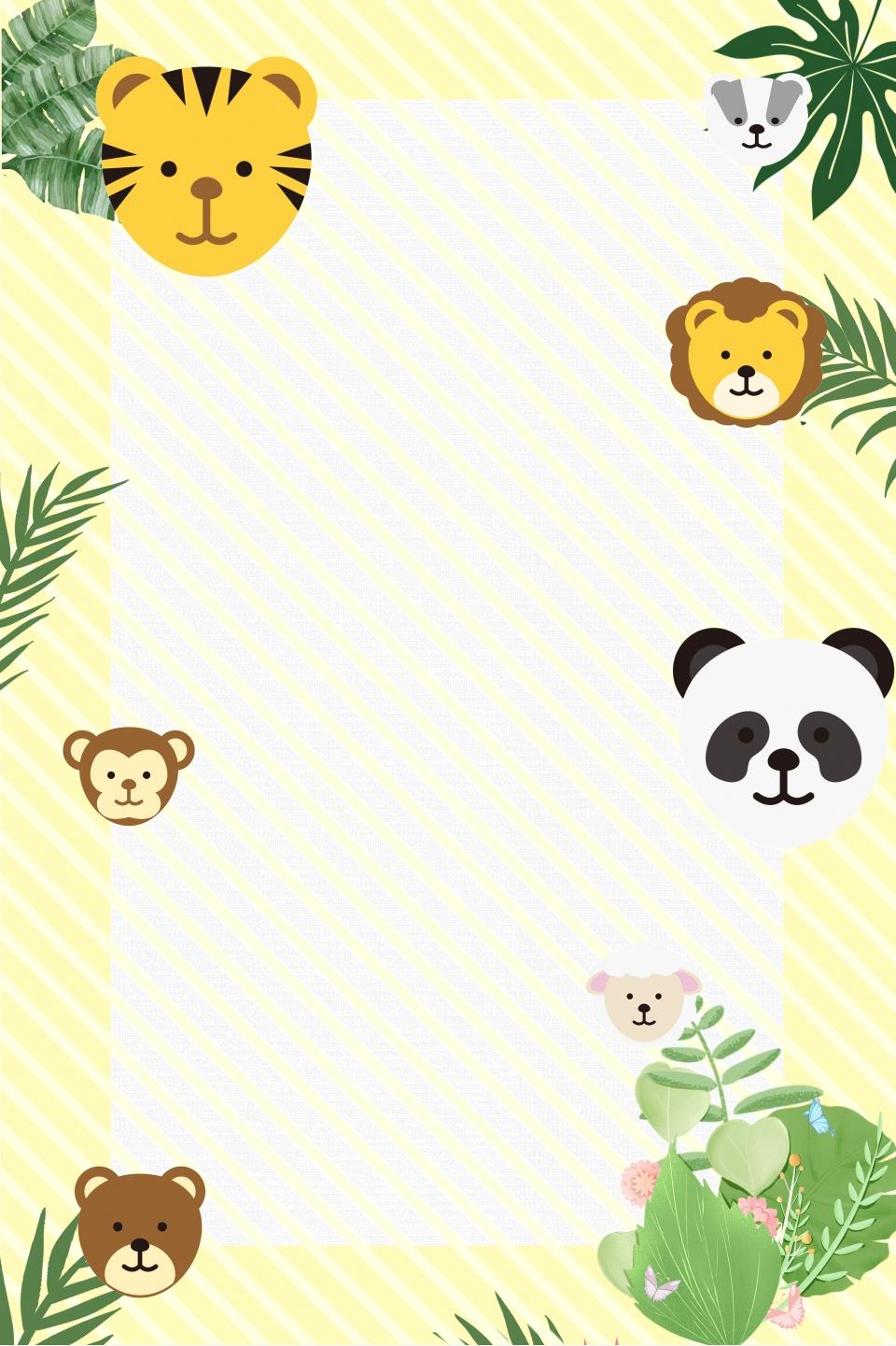Dessin Anime Frais Zoo Monde Animal De Anime Zoo Image De Fond Pour Le Telechargement Gratuit
