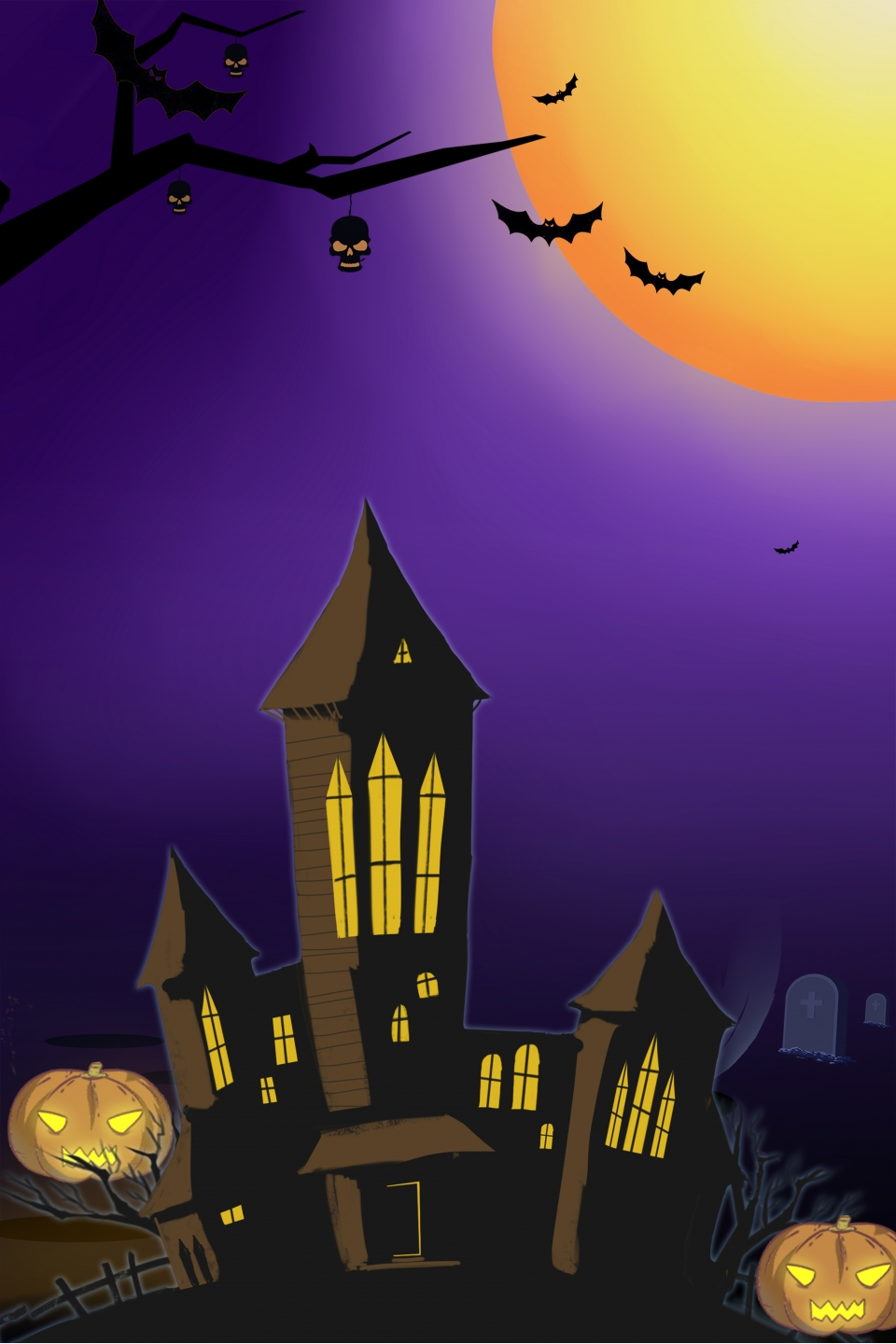 Halloween Poster Background Free.Cartoon Halloween Poster Background Cartoon Poster Hand
