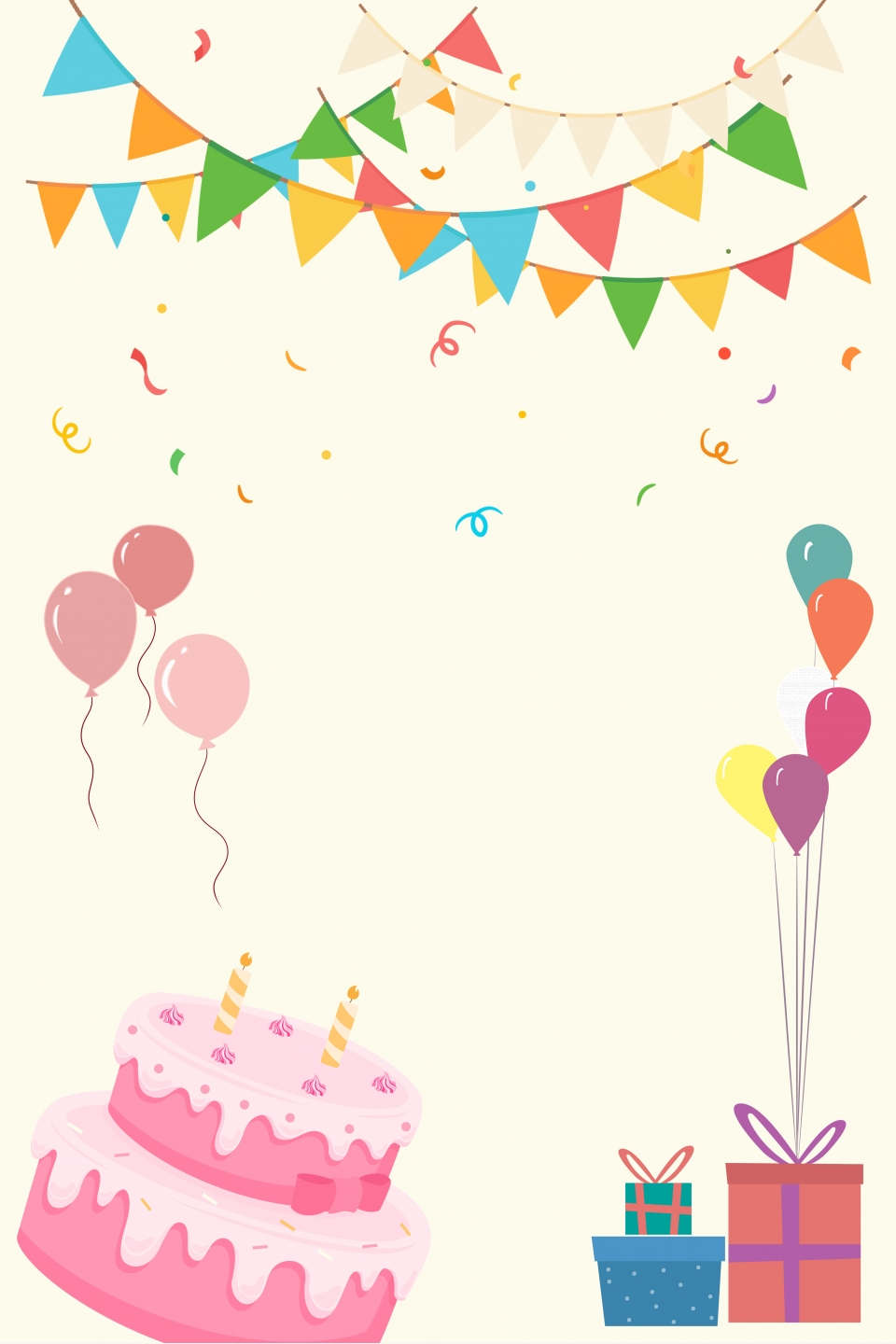 Cartoon Hand Drawn Birthday Party Poster Cartoon Hand Drawn Birthday Background Image For Free Download