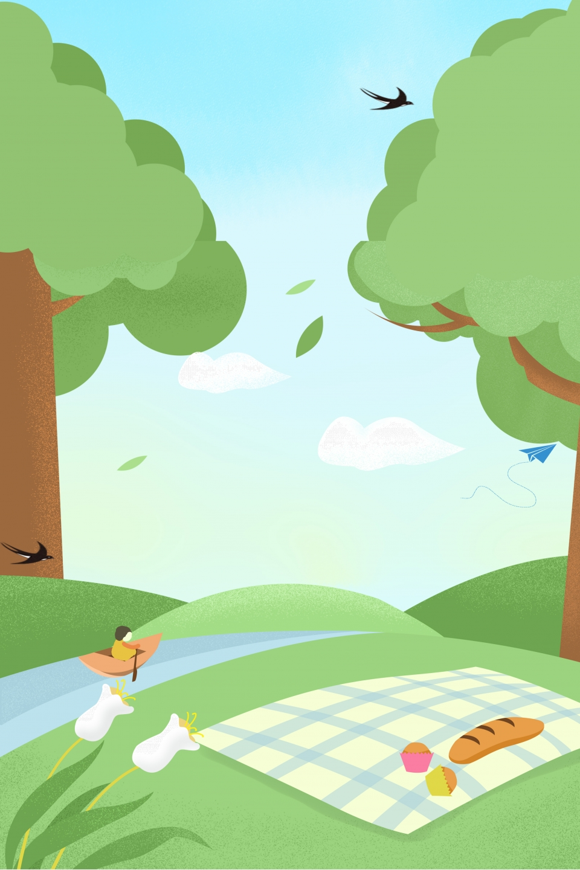Kartun Tangan Ditarik Pagi Hutan Kartun Disediakan Batu