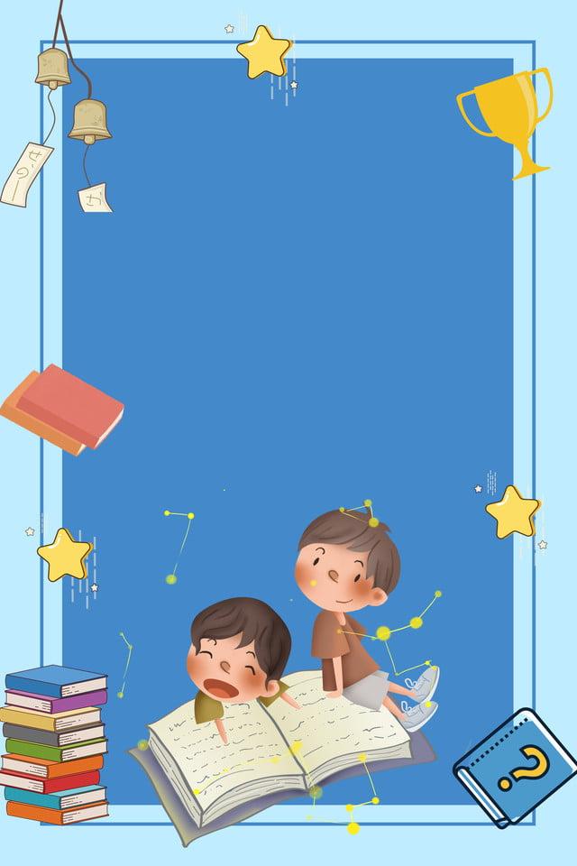 Cartoon School Kids Essay Poster Psd Layered Background ...