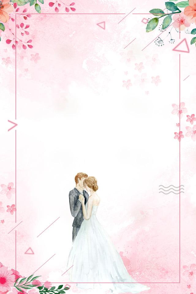 Cartoon Wedding Poster Background Wedding Poster Wedding