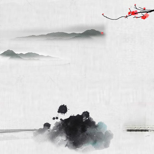 Chinese Style Ink Brush Psd Layered Master Map Background