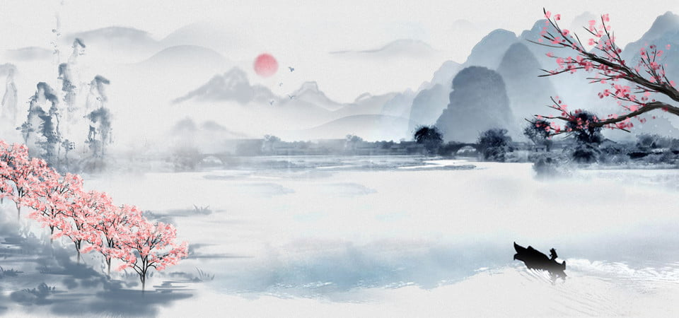 pngtree-chinese-style-ink-painting-mountain-river-peach-flower-print-advertising-image_144511.jpg (960×450)