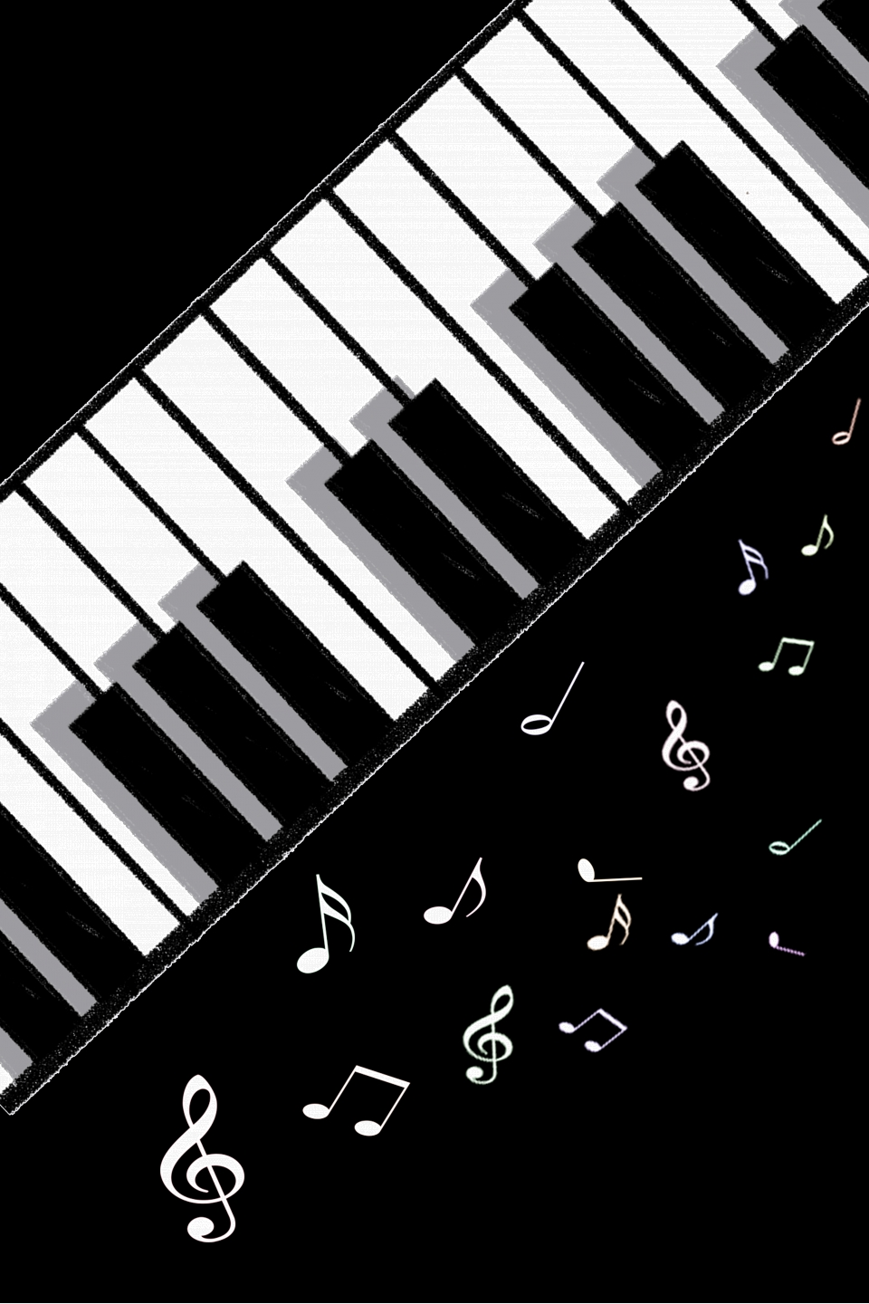 Creative Piano Piano Piano Training Music Poster Background Material