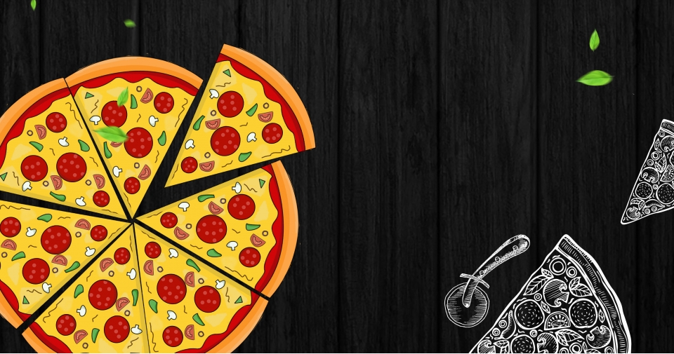 Delicious Western Restaurant Fashion Atmosphere Black Poster Banner,  Western Restaurant, Delicious, Big Pizza Background Image For Free Download
